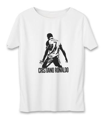 تی شرت زنانه به رسم طرح رونالدو کد 5546