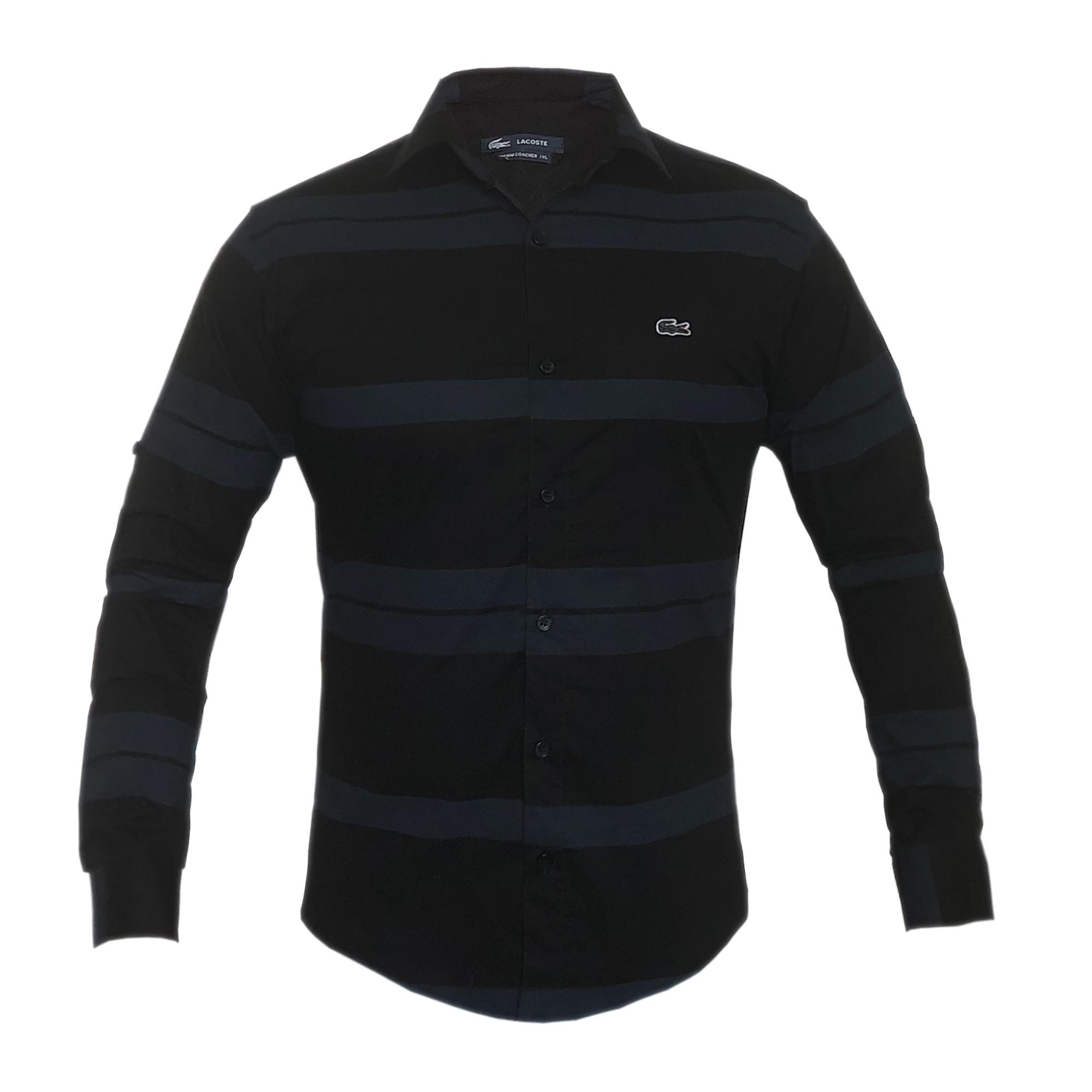 پیراهن مردانه لاگوست کد ar014 رنگ سورمه ای