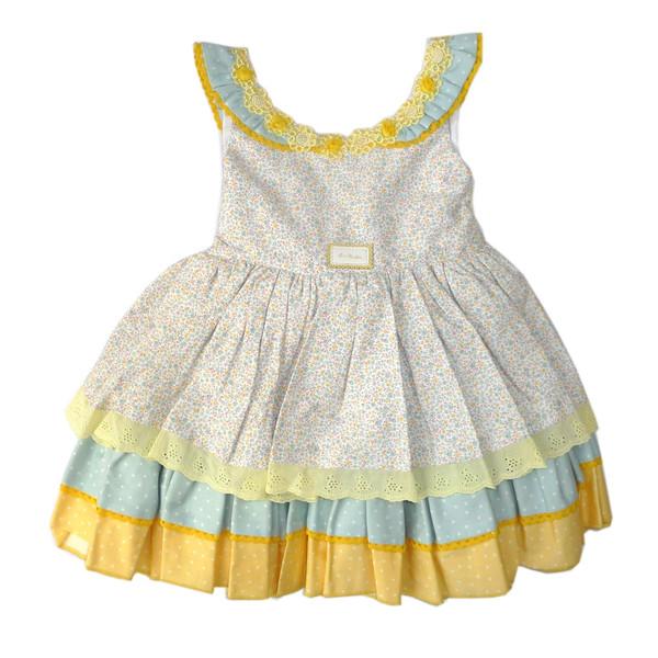 پیراهن دخترانه لاآماپولا مدل DREM V.V.FLOR