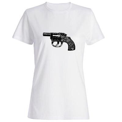تیشرت زنانه طرح تفنگ کد 3895