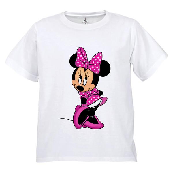 تی شرت دخترانه به رسم طرح میکی کد 9903