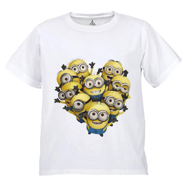 تی شرت پسرانه به رسم طرح مینیون قلب کد 9905