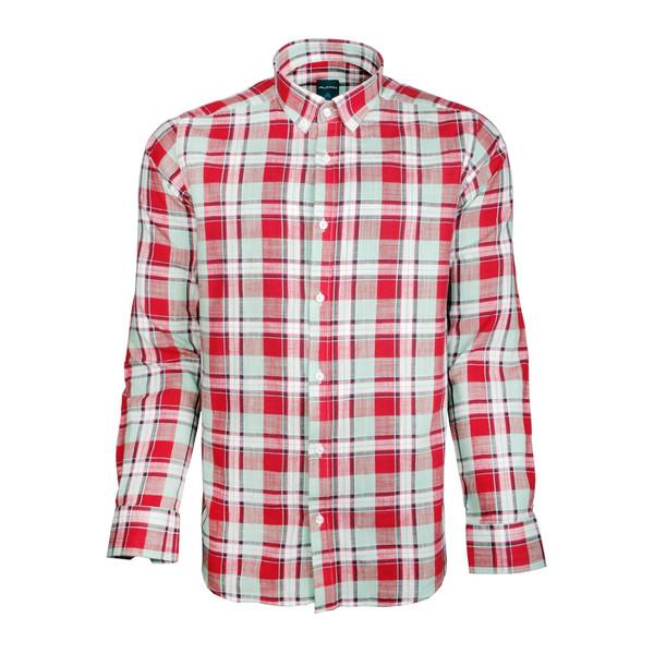 پیراهن مردانه پلاتین طرح چهارخانه کد 1034