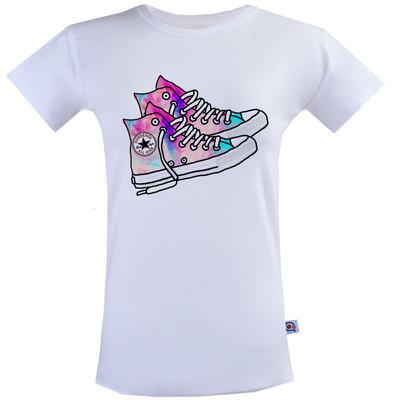 تی شرت زنانه آکو طرح کتونی کد BS80