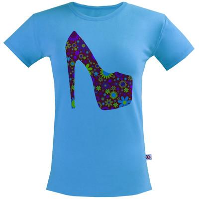 تی شرت زنانه آکو طرح کفش کد BA84