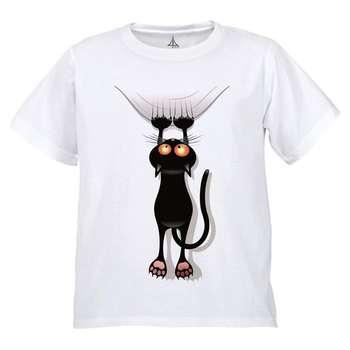 تی شرت پسرانه به رسم طرح گربه کد 9902