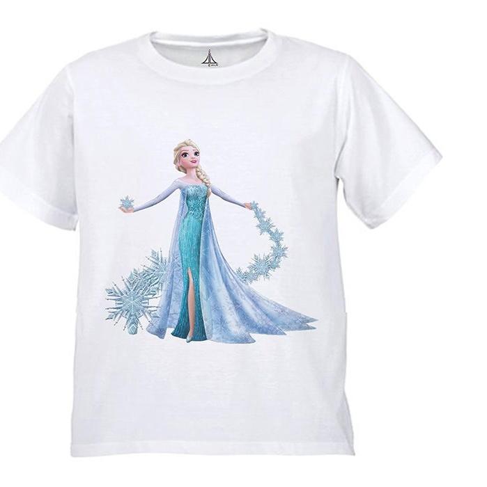 تی شرت دخترانه به رسم طرح السا کد 9904