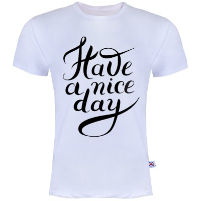 تصویر تیشرت آستین کوتاه مردانه آکو طرح Nice Day کد AS27