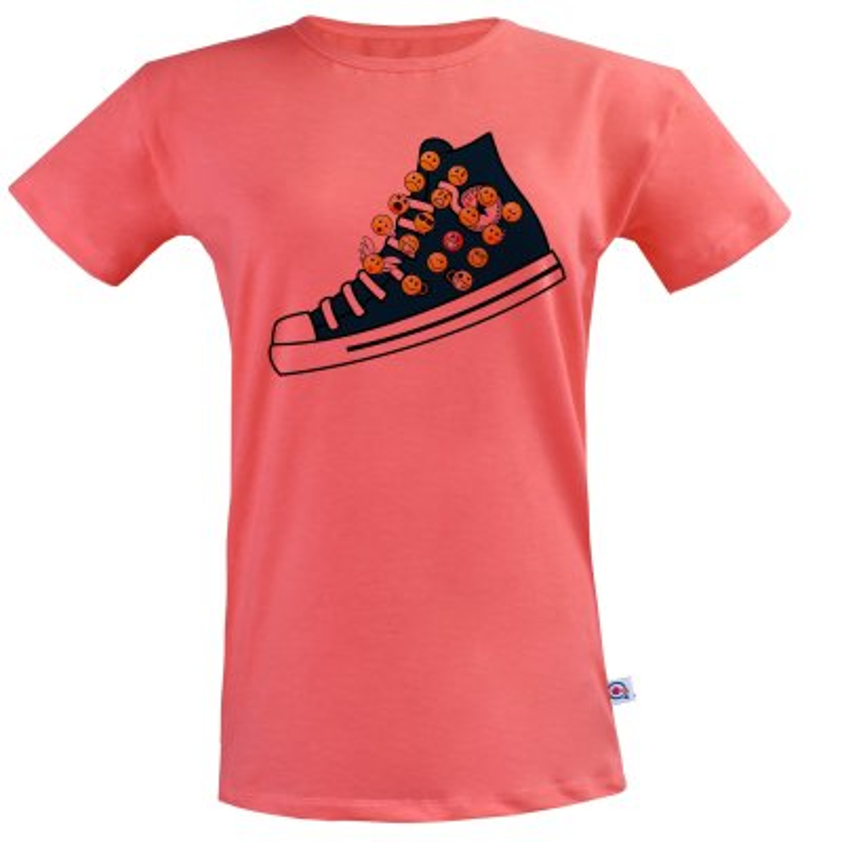 تی شرت زنانه آکو طرح کتونی کد BG87