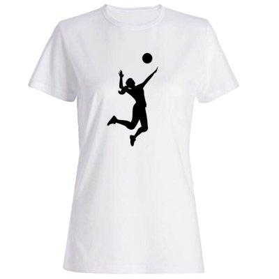 تیشرت زنانه طرح والیبال کد 4378