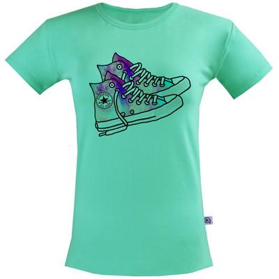 Photo of تی شرت زنانه آکو طرح کتونی کد BC80