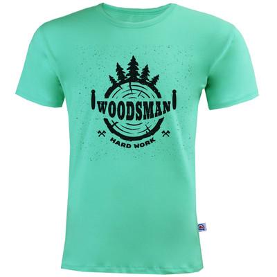 تیشرت آستین کوتاه مردانه آکو طرح Woods Man کد AC38