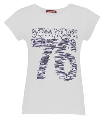 تی شرت زنانه افراتین کد 2535 رنگ سفید