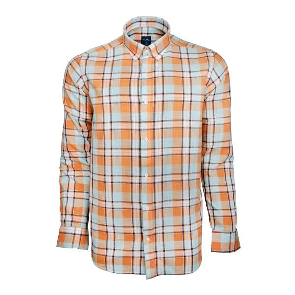 پیراهن مردانه پلاتین طرح چهارخانه کد 1033