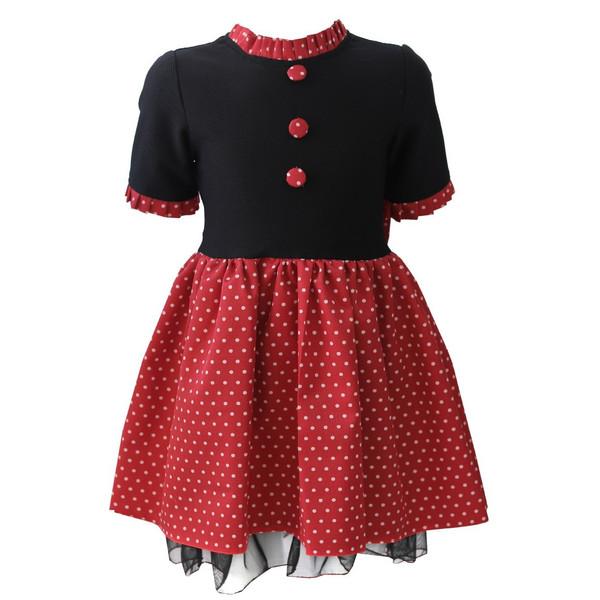 پیراهن دخترانه طرح میکی موس کد 359