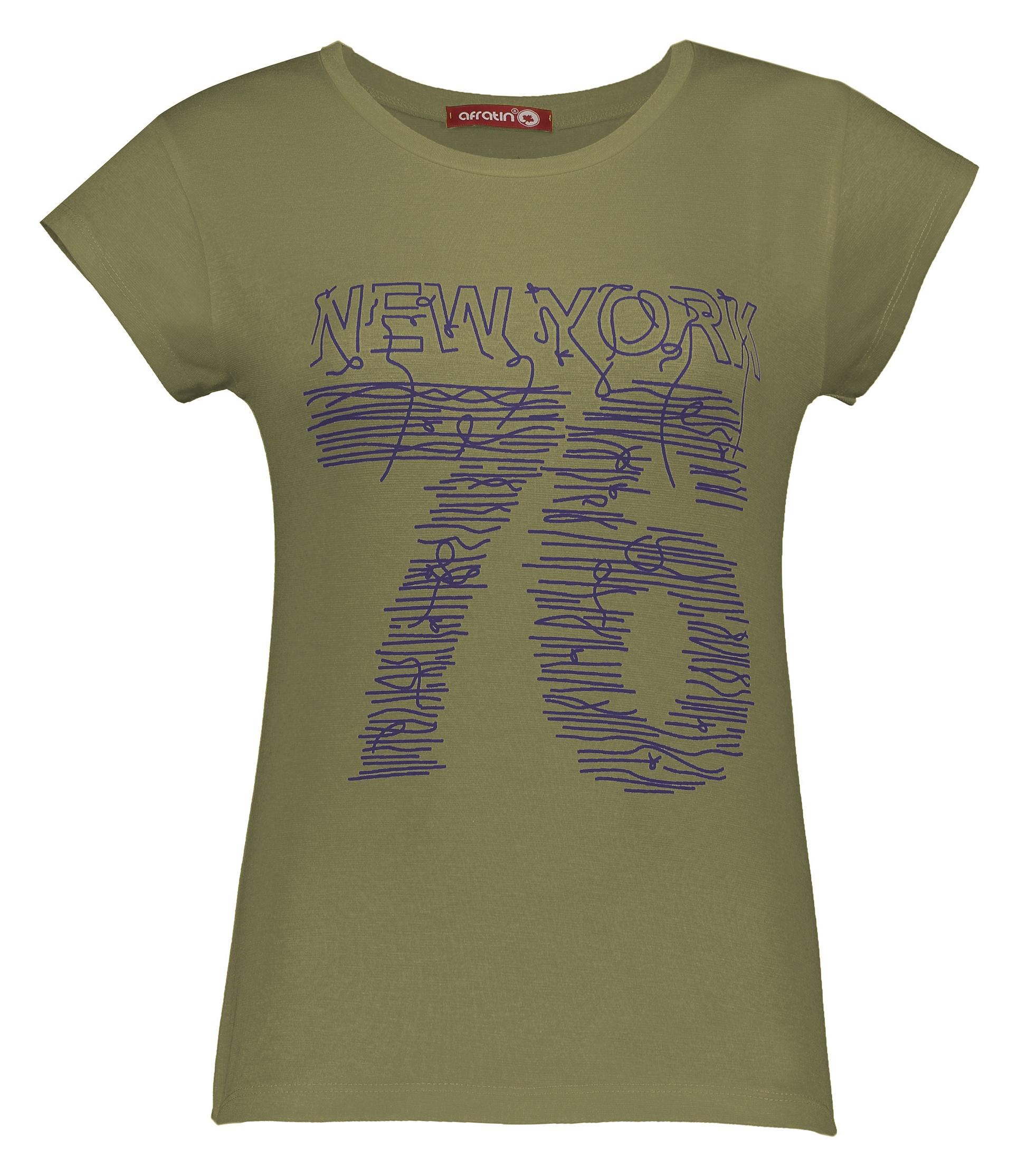 تی شرت زنانه افراتین کد 2535 رنگ سبز