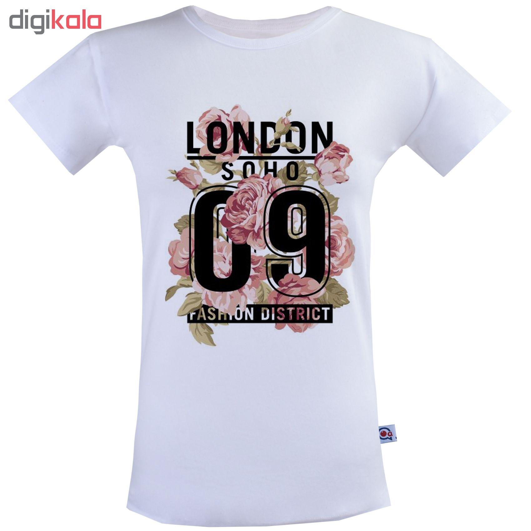 تی شرت نه آکو طرح  LONDON کد SS71