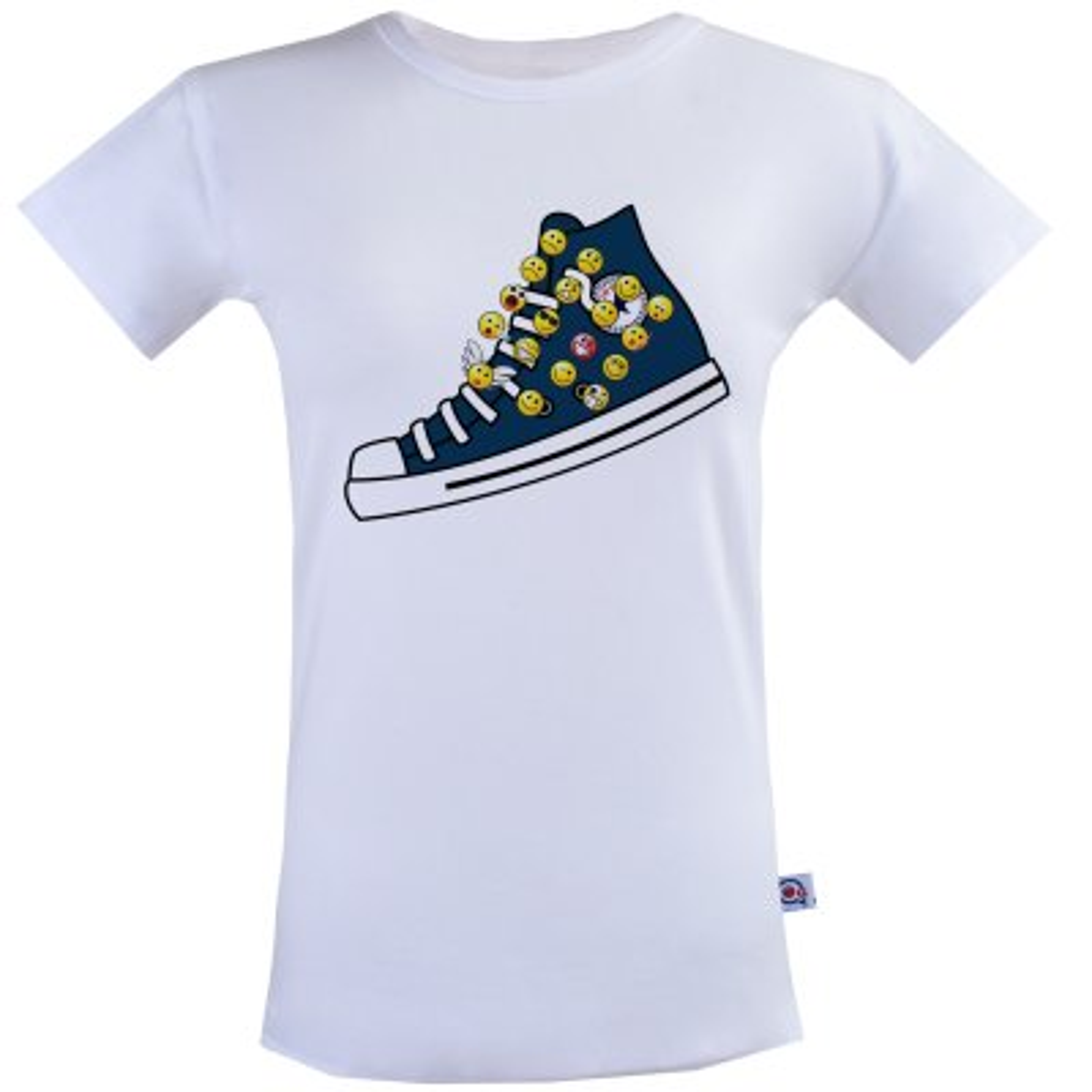 تصویر تی شرت زنانه آکو طرح کتونی کد BS87