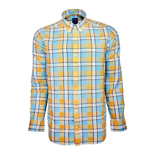 پیراهن مردانه پلاتین طرح چهارخانه کد 1032