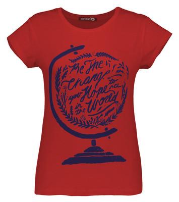 Photo of تی شرت زنانه افراتین کد 2540 رنگ قرمز