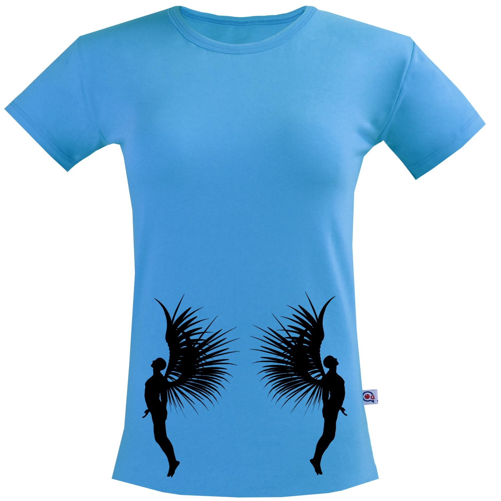 تیشرت آستین کوتاه مردانه آکو طرح angel کد Na036