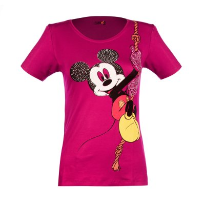 تی شرت زنانه ناندو استایل طرح میکی موس کد NS37