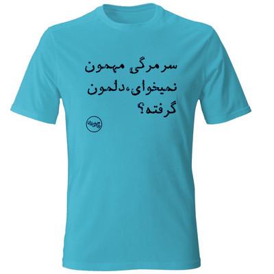 Photo of تیشرت مردانه طرح سر مرگی مهمون نمیخوای، دلمون گرفته ؟ رنگ آبی