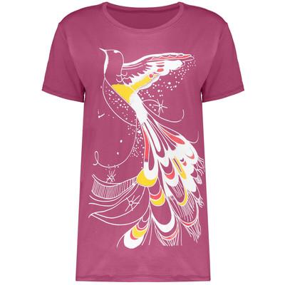 تصویر تی شرت زنانه طرح پرنده مدل 402