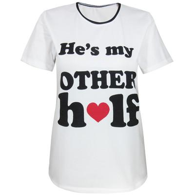 تصویر تی شرت زنانه مدل Other half