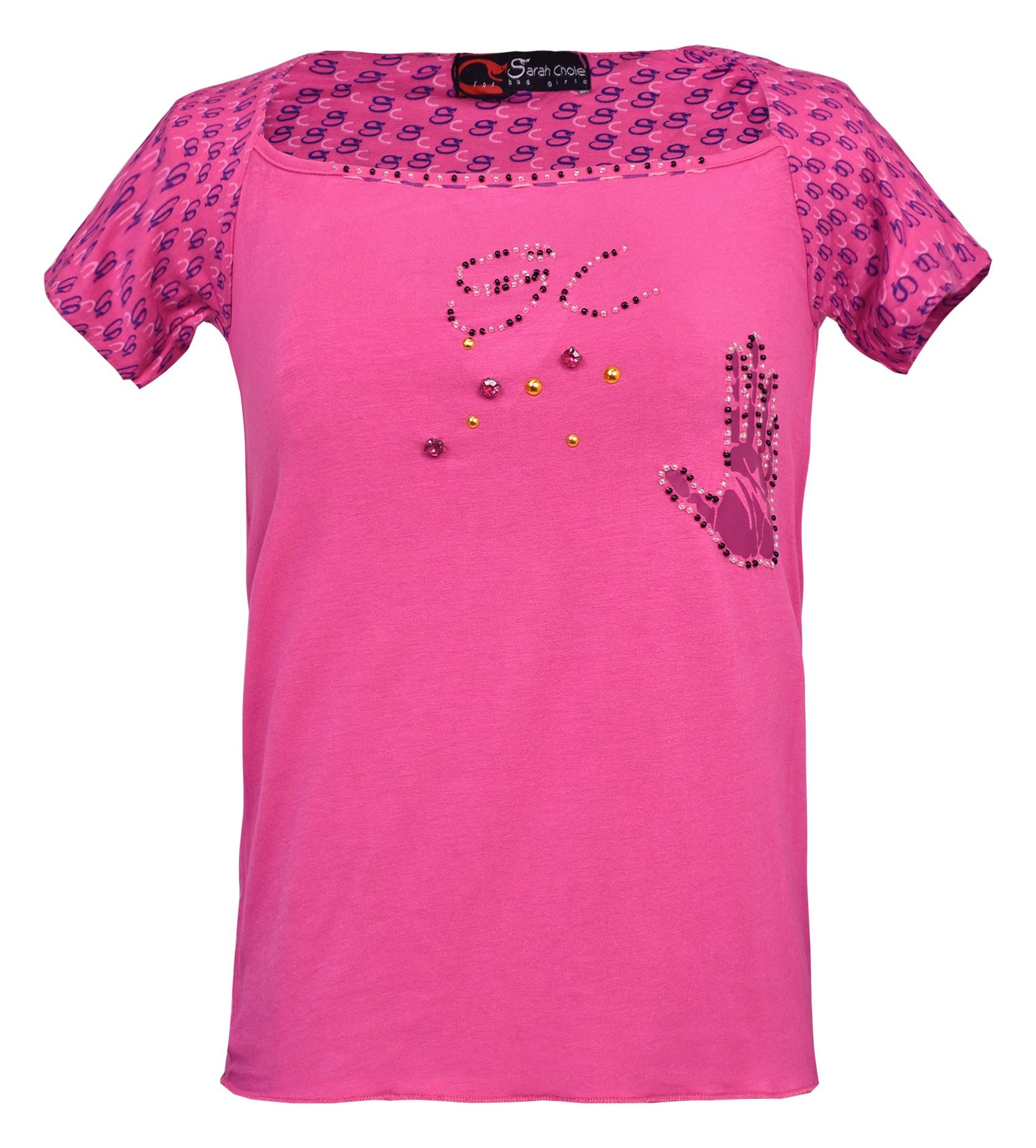 تی شرت زنانه سارا کلوئه کد SC12