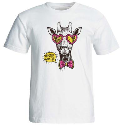 تی شرت زنانه طرح زرافه کد 8727