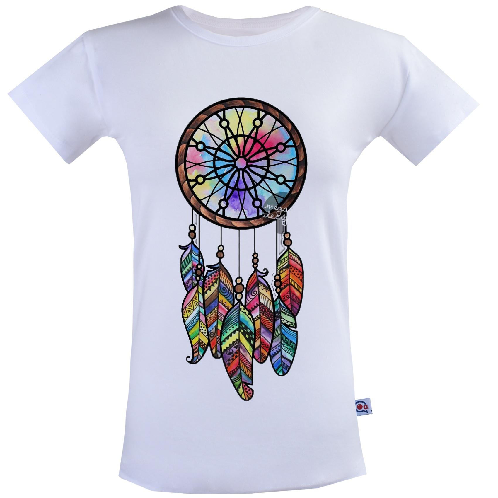 تی شرت زنانه آکو طرح دریم کچر کد SS97