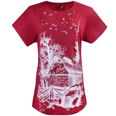 تصویر تی شرت زنانه ناندو استایل طرح جنگل مدل NS55