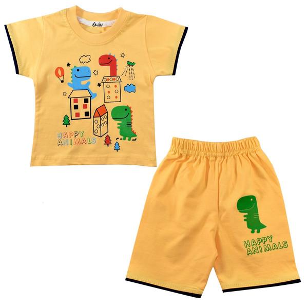 ست تی شرت و شلوارک نوزادی پسرانه نیروان کد 10791