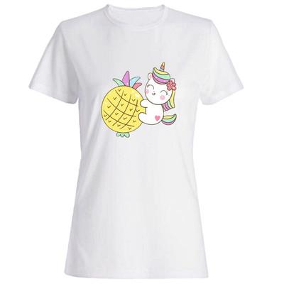 تی شرت زنانه طرح اسب تک شاخ کد 5177