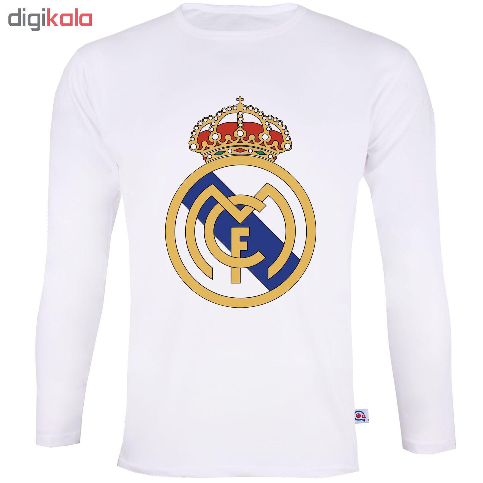تی شرت آستین بلند مردانه آکو طرح رئال مادرید کد SS18 main 1 1