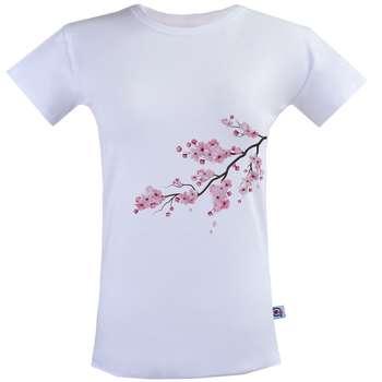 تی شرت زنانه آکو طرح شاخه کد SS111