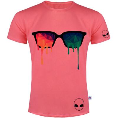 تی شرت مردانه آکو طرح عینک رنگی کد SG61
