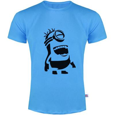 تصویر تی شرت مردانه آکو طرح مینیون کد SA43