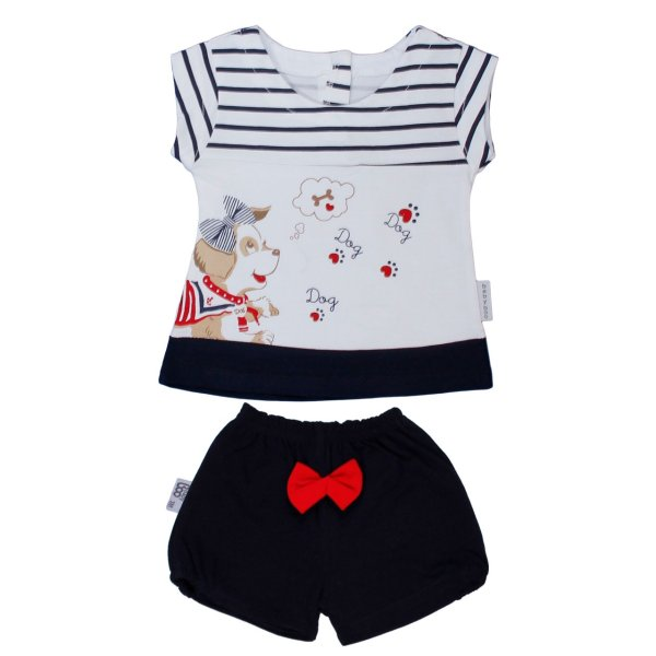 ست تی شرت و شلوارک نوزادی دخترانه بیبی بو مدل pankio