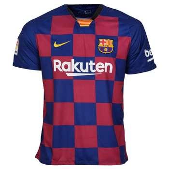 تیشرت ورزشی مردانه طرح بارسلونا کد home1920 رنگ اناری