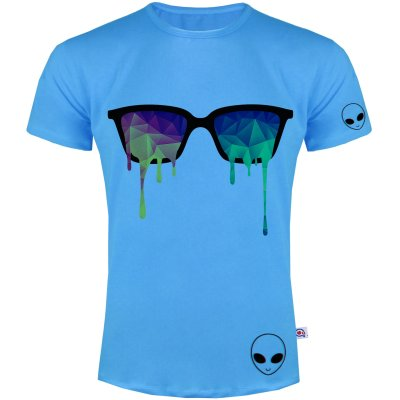 تصویر تی شرت مردانه آکو طرح عینک رنگی کد SA61