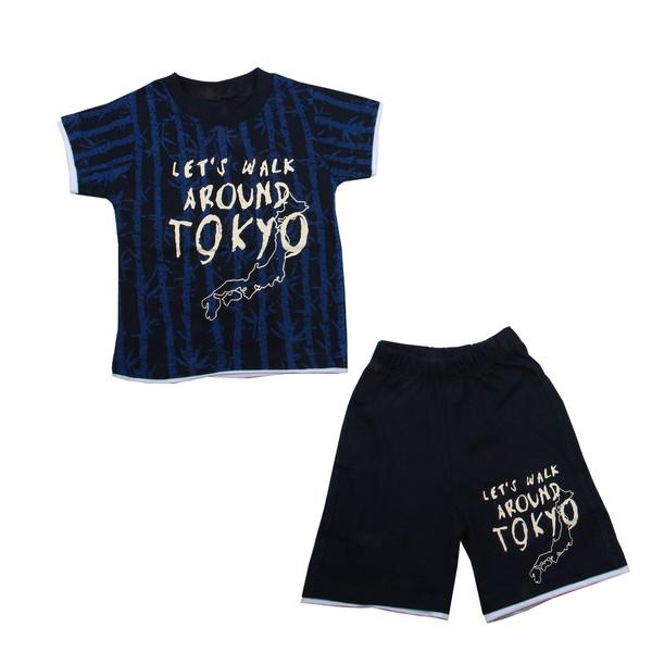 ست تی شرت و شلوارک نوزادی پسرانه کد 039