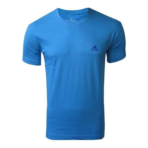 تیشرت آستین کوتاه مردانه روانبخش مدل D2M کد 20261 رنگ آبی