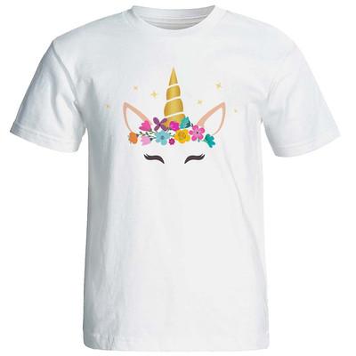 تی شرت زنانه طرح یونیکورن کد 8743