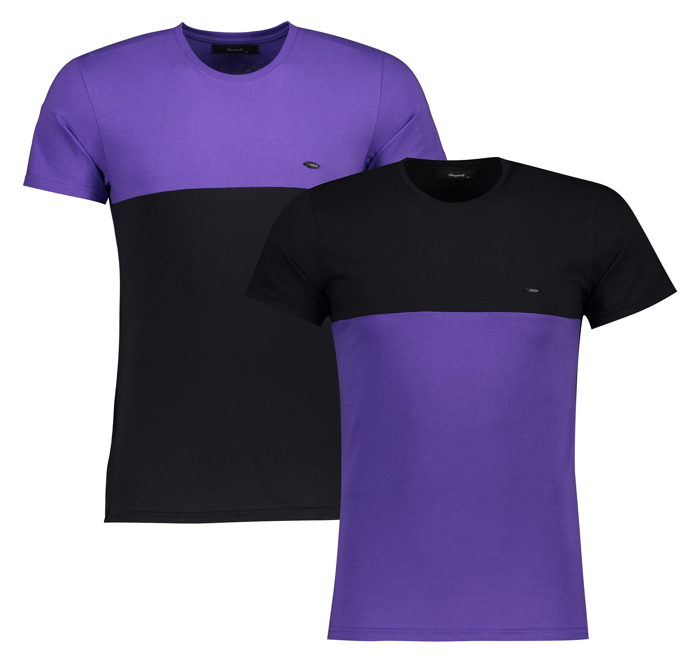 تی شرت آستین کوتاه مردانه بای نت کد 318-2 btt L مجموعه 2 عددی