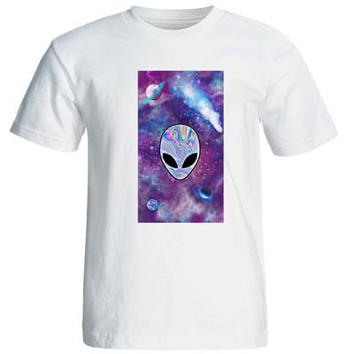 تصویر تی شرت مردانه طرح ادم فضایی کد 17307