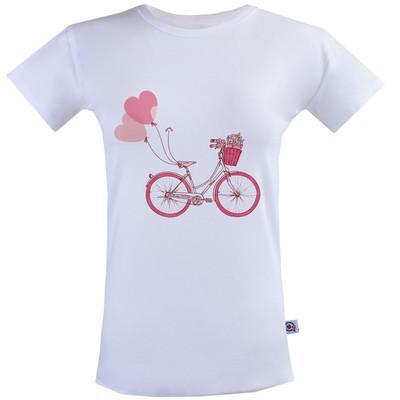 تصویر تی شرت زنانه طرح دوچرخه کد SS126