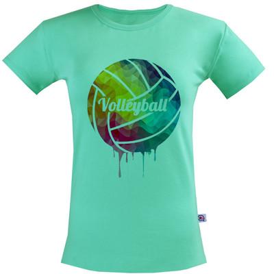 تی شرت زنانه آکو طرح والیبال کد SC131