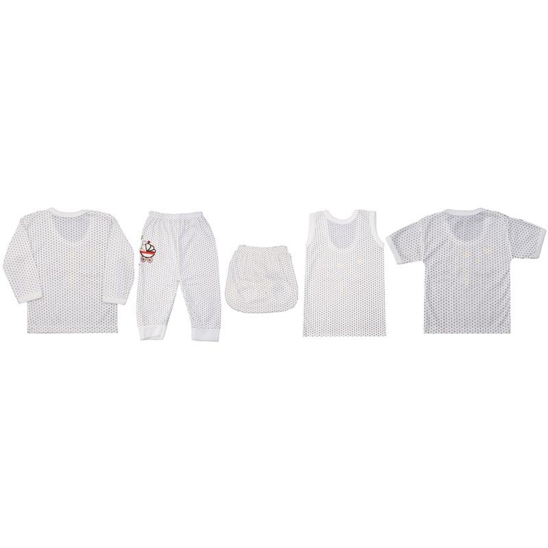 ست 5 تکه لباس نوزاد کد G002